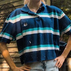 cropped striped polo vintage